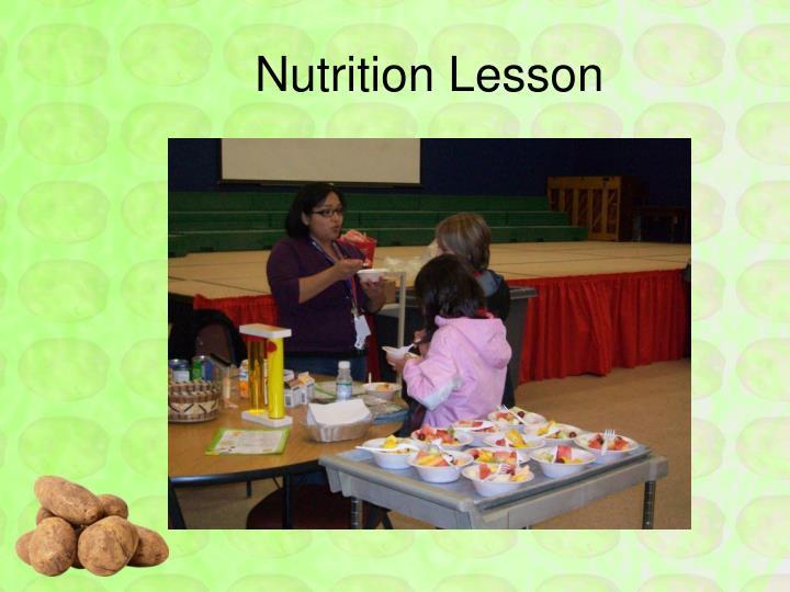 Nutrition Lesson