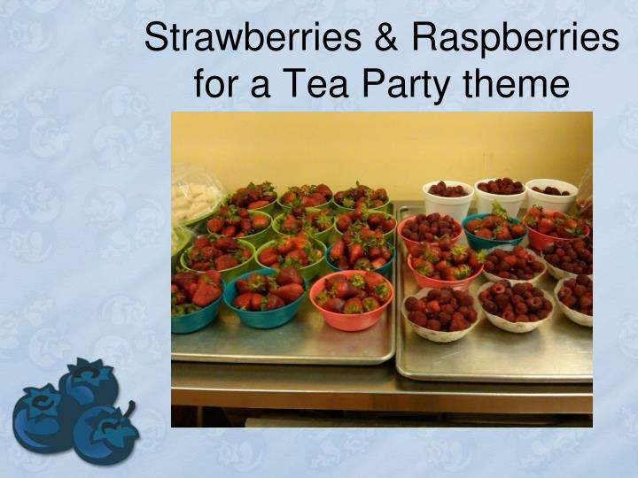 Strawberries & Raspberries for a Tea Party theme