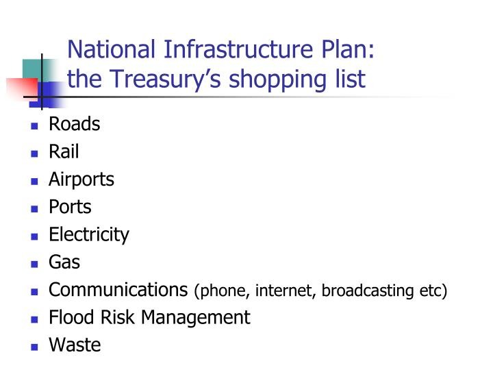 National Infrastructure Plan: