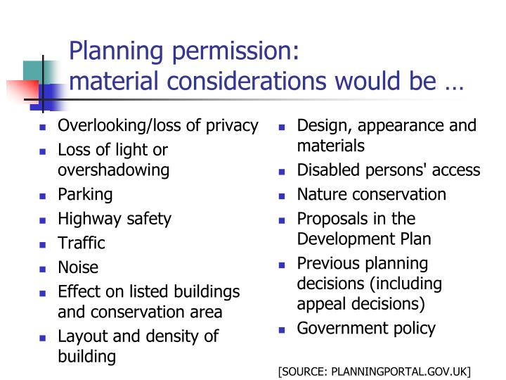 Planning permission: