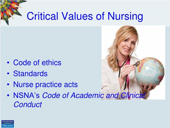 nursing roles and values We are nurses – core values we are  we do not just perform tasks or provide  services, being a nurse is part of who we are we may  lpn as role model.
