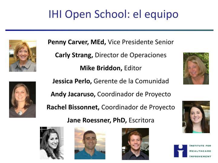 IHI Open School: el