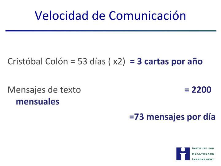 Velocidad de Comunicación