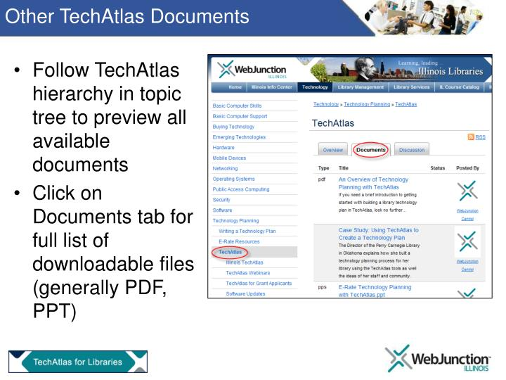 Other TechAtlas Documents