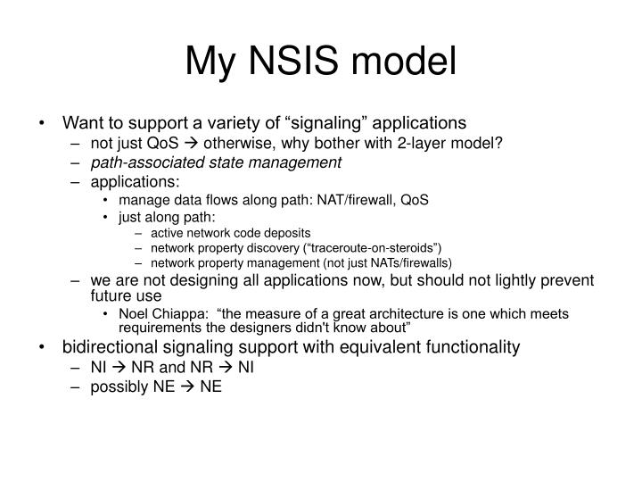 My NSIS model