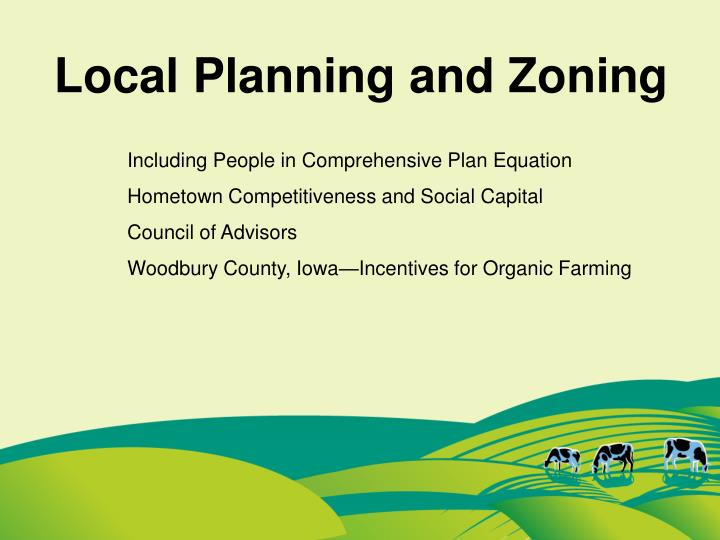 Local Planning and Zoning