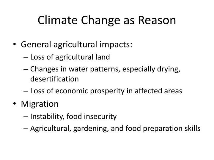 Climate Change as Reason