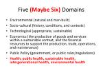 five maybe six domains