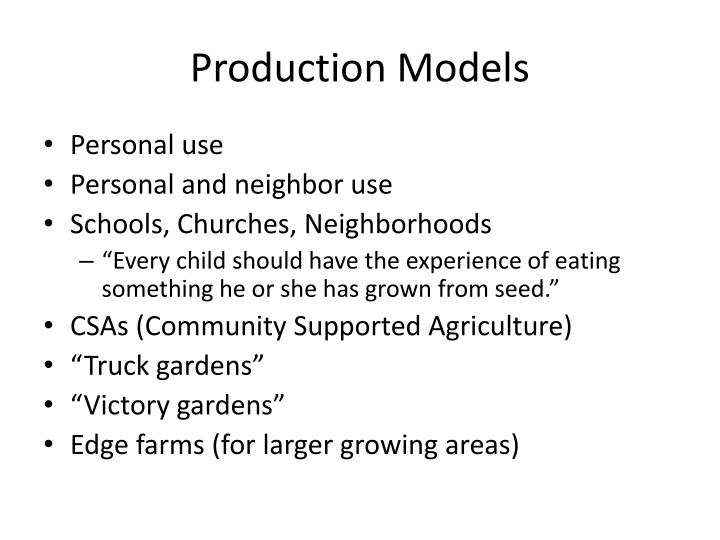Production Models