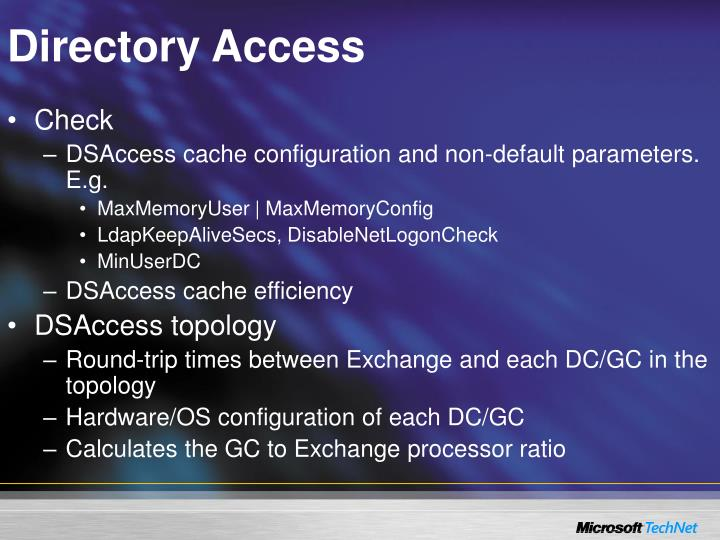 Directory Access