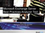 microsoft exchange server best practices analyzer tool