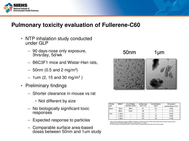 Pulmonary toxicity evaluation of Fullerene-C60