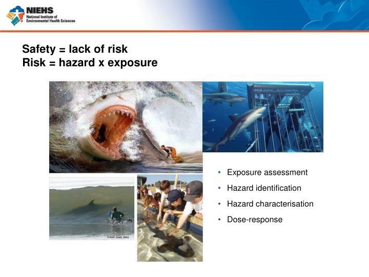 Safety = lack of risk