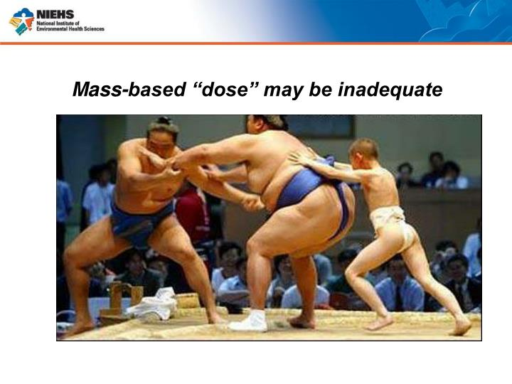 "Mass-based ""dose"" may be inadequate"
