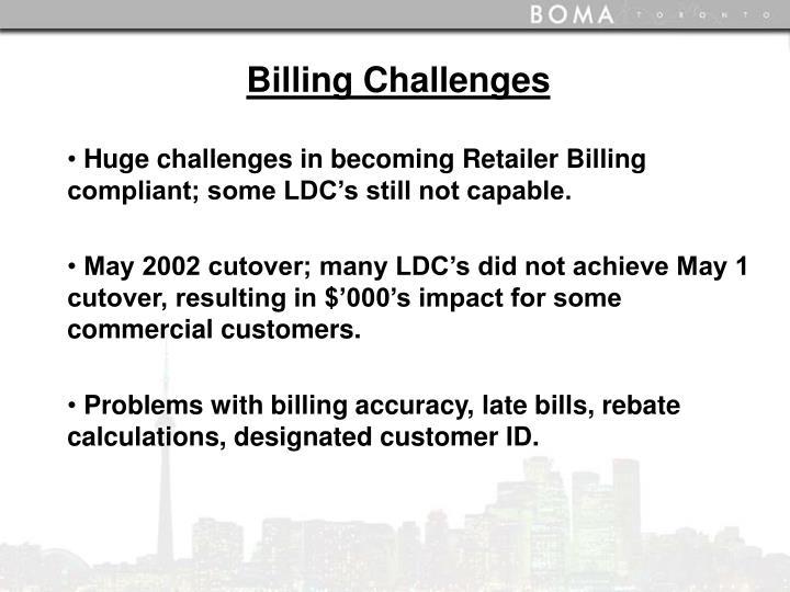 Billing Challenges
