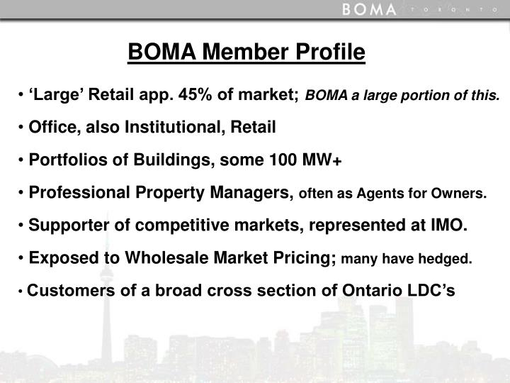 BOMA Member Profile