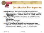 justification for migration
