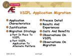 vsipl application migration