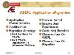 vsipl application migration1