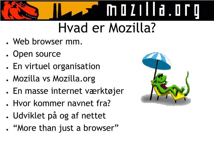 Hvad er Mozilla?
