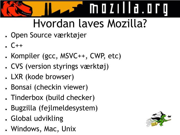 Hvordan laves Mozilla?