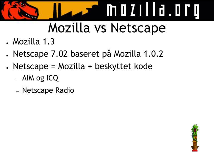 Mozilla vs Netscape