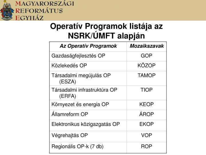 Operatív