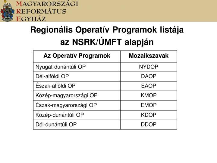 Regionális Operatív