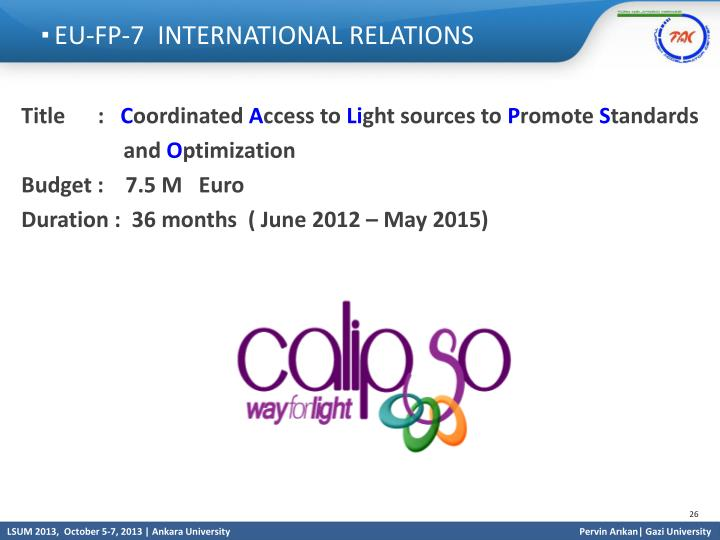 EU-FP-7  INTERNATIONAL RELATIONS