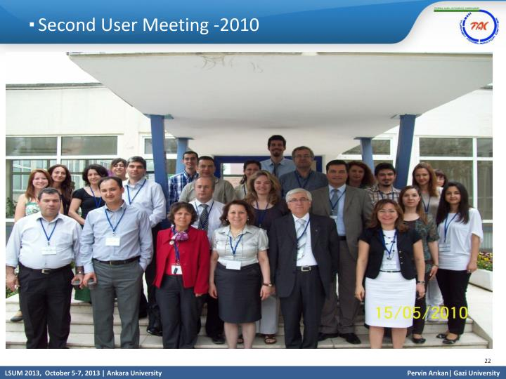 Second User Meeting -2010