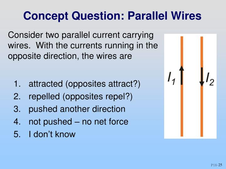 Concept Question: Parallel Wires