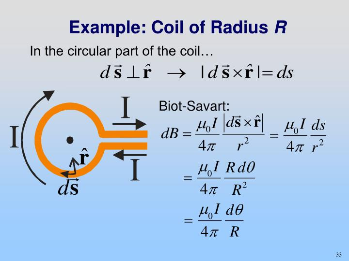 Example: Coil of Radius