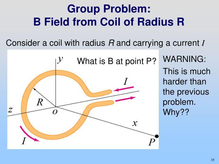Group Problem: