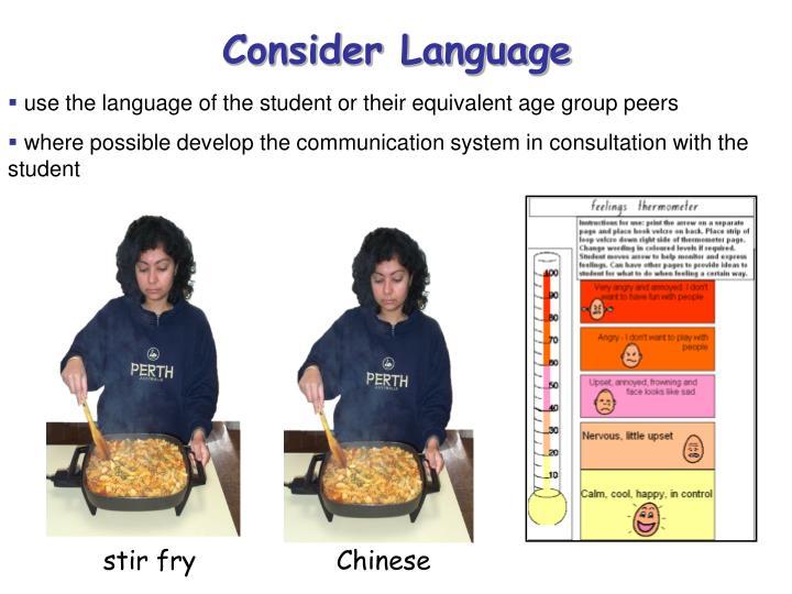 Consider Language