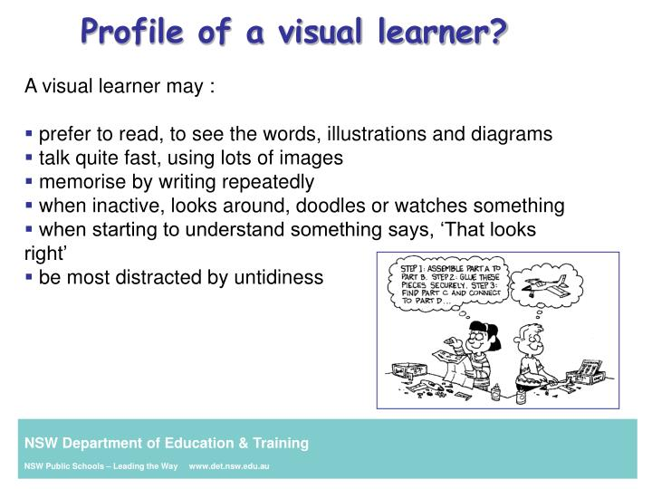 Profile of a visual learner?