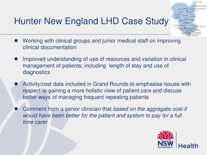 Hunter New England LHD Case Study