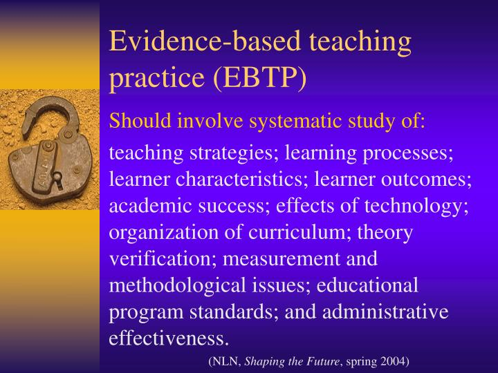 Evidence-based teaching practice (EBTP)