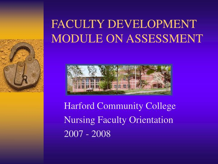 Faculty development module on assessment