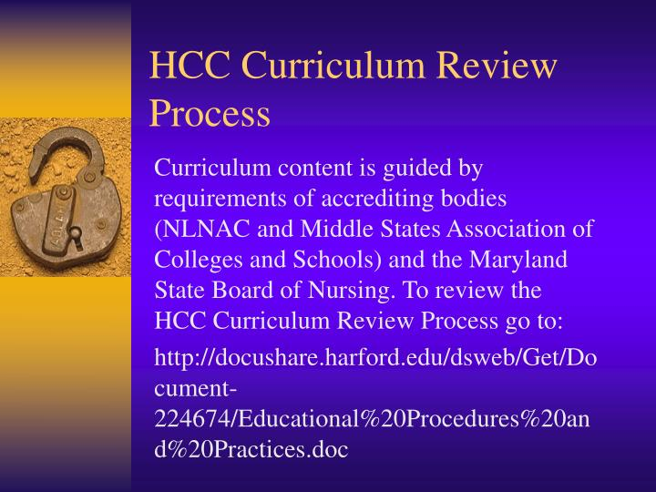 HCC Curriculum Review Process