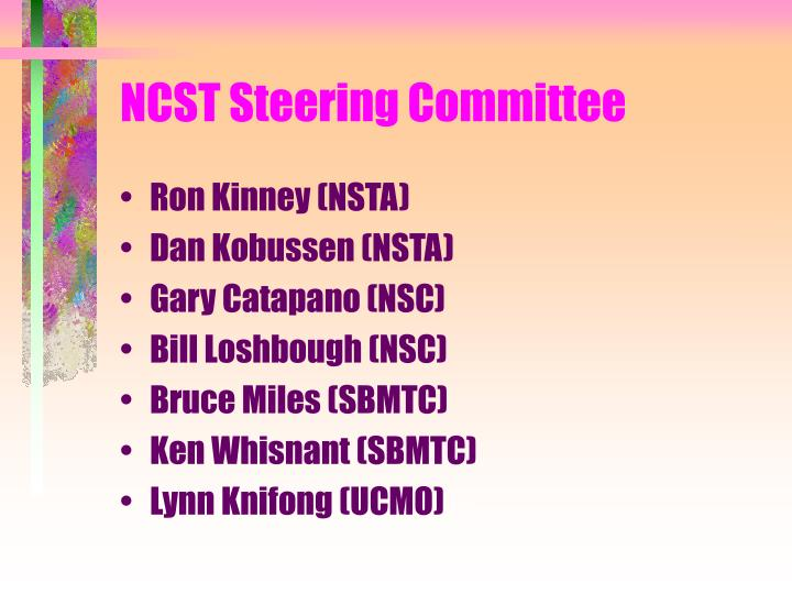 NCST Steering Committee
