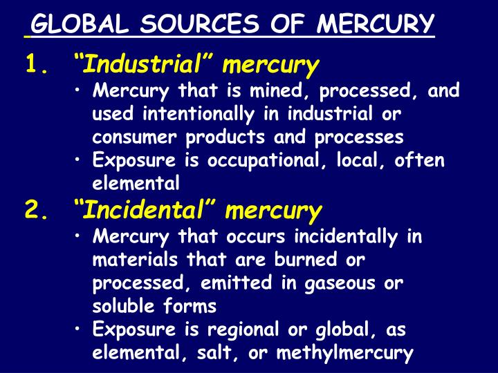 GLOBAL SOURCES OF MERCURY