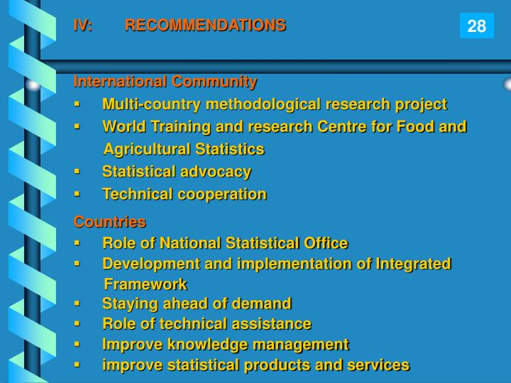 IV:RECOMMENDATIONS
