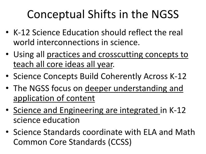 Conceptual Shifts in the NGSS
