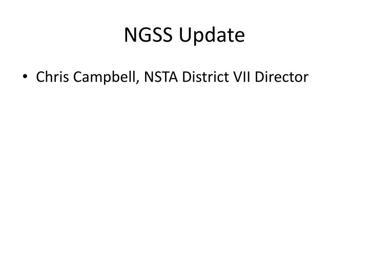 Ngss update