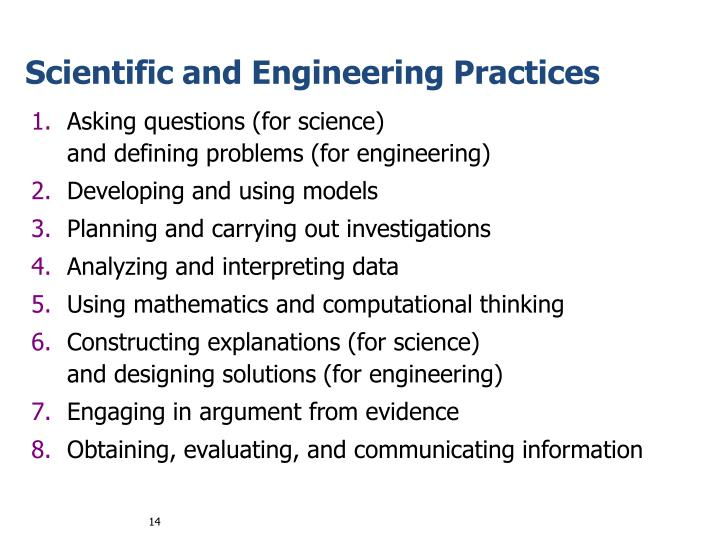 Scientific and Engineering Practices