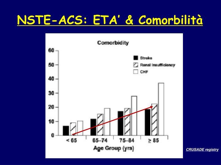 NSTE-ACS: ETA' & Comorbilità