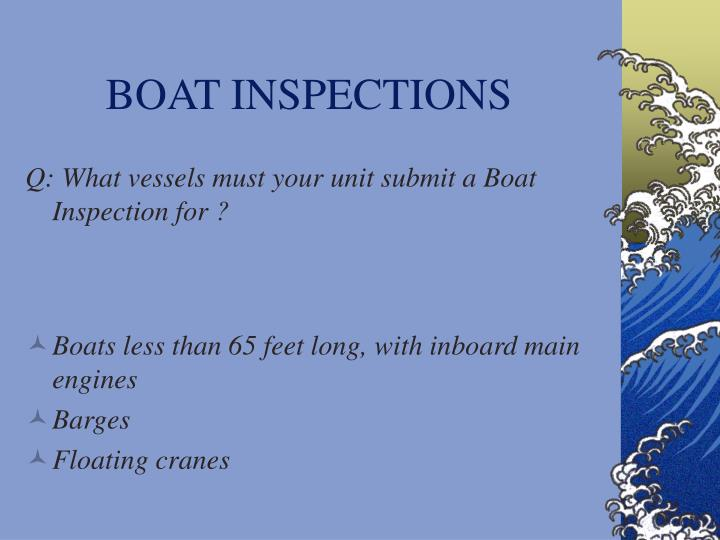 BOAT INSPECTIONS