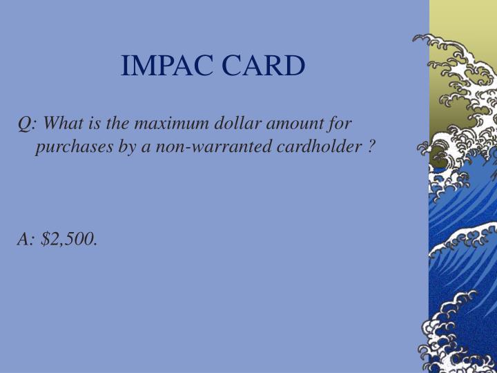 IMPAC CARD