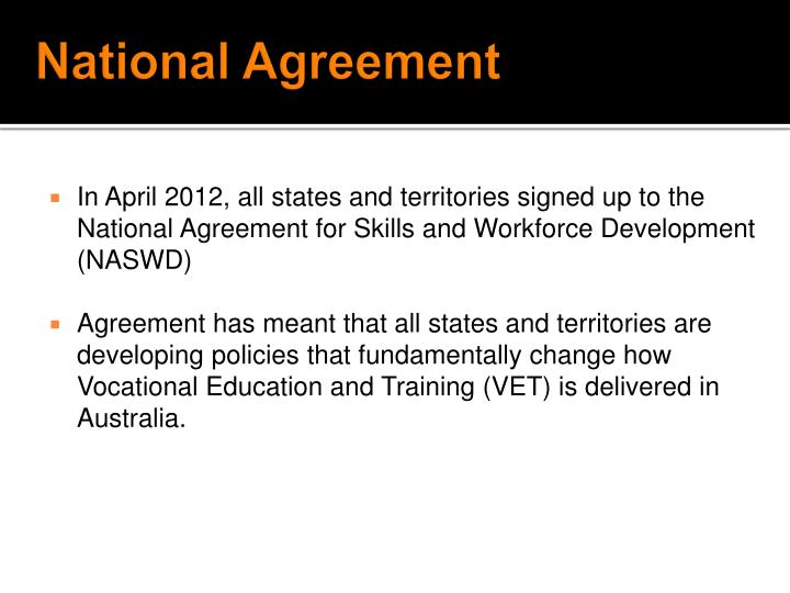 National Agreement