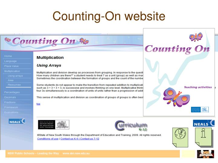 Counting-On website